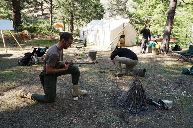 First Circle Camp California. Survival skills training for adults.